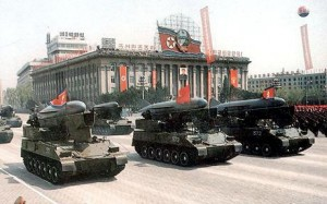 North Korea - missiles on parade in Pyongyang